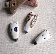 Perky Bull Terrier Porcelain Ceramic Dog by StudioByTheForest