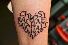 Tattoo Lettering and Scripts. Gallery Tattoos.