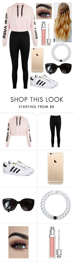 """""""Cute Outfit for A Chill Day"""" by ashrushzoo ❤ liked on Polyvore featuring Boohoo, adidas, Chanel, Lokai and Christian Dior"""