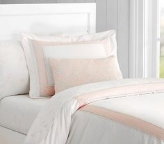 Monique Lhuillier Ethereal Pieced Duvet : Twin : Blush Pink