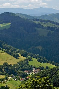 the Black Forest in Germany Village in the valley - Sankt Ulrich, Baden-Wurttemberg Copyright: JeanLoup Castaigne