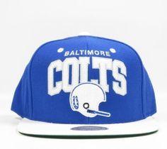 NFL Mitchell   Ness Baltimore Colts Football Snapback Hat Cap   BaltimoreColtsFootball 563e1219d