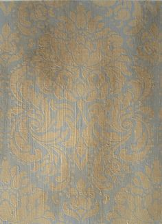 Boho Modern wall finish sample with our Florentine Damask Stencil