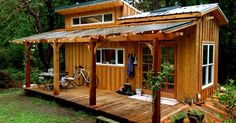 Lots of lovely hand-crafted details in this self-built tiny house in British Columbia.