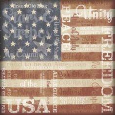 Karen Foster Design - Patriotic Collection - 12 x 12 Paper - Stars and Stripes Collage at Scrapbook.com $0.71
