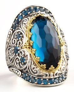 HOLY CRAP LOVE THIS!! Konstantino London Blue Topaz Ring - Neiman Marcus