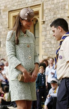 DOC attending the National Review of the Queen's Scouts for the first time in place of the Queen.  4/21/13