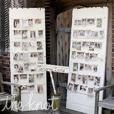 Vintage Door Decor to display wedding photos from parents, grandparents, etc!