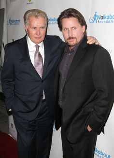 It has been a long time since Martin Sheen and his son, Emilio Estevez have acted together. So it was bittersweet when Estevez wrote and directed his new film The Way and asked his father to star in it. The Big E, Emilio Estevez, Martin Sheen, Charlie Sheen, Young Guns, Famous Men, Look Alike, Father And Son, Good Movies
