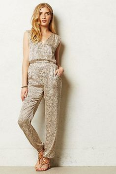 #Leopard #Silk #Romper by #Cynthia #Vincent via #Anthropologie #anthrofave