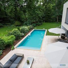 From Awesome Pool In A Lovely Garden. : )   Via By Simonjanca Creative  Backyard Pool Designs.
