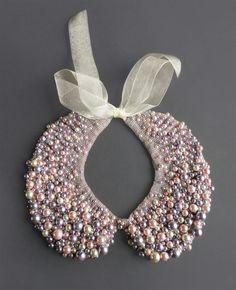 Hermoso collar de perlas, tipo cuello!