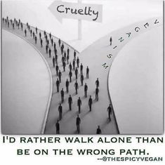 Go Vegan   Come walk with me ................... Do it for the animals