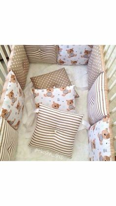 Baby Bedroom, Baby Boy Rooms, Baby Room Decor, Baby Cot Bumper, Baby Cribs, Cot Bedding, Baby Pillows, Baby Sewing, Baby Accessories