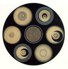 Disks bearing Spirals by Marcel Duchamp, 1923, pencil/ink - WikiPaintings.org