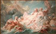 Page: The Birth of Venus Artist: Jean-Honore Fragonard Start Date: 1753 Completion Style: Rococo Genre: mythological painting Gallery: Musée Grobet Aesthetic Painting, Aesthetic Art, Venus Painting, Aphrodite Painting, Rennaissance Art, Jean Honore Fragonard, Color Symbolism, Renaissance Kunst, The Birth Of Venus