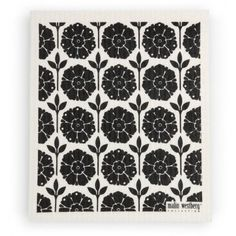 Scandinavian Swedish Dishcloth - Set of 4 Black (EW) FLOWERS ** Details can be found by clicking on the image.