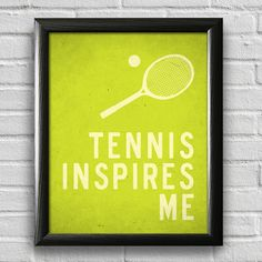 Tennis Print Sports Art Typography Poster by LotusLeafCreations, $12.00