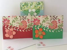 Card kit made with the Botanical Thinlits by Stampin Up.