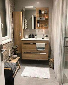 New Bathroom Ideas, Bathroom Inspiration, Interior Decorating, Interior Design, Minimalist Home Decor, Laundry In Bathroom, Tiny House Design, Bath Design, Rustic Interiors