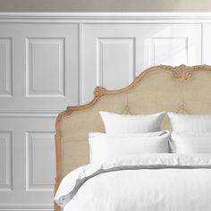 FRANKLIN Polstret luksus sengegavl i hør - 180