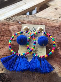 Ideas for jewerly stand ideas diy earrings Tassel Earing, Diy Tassel, Tassel Jewelry, Fabric Jewelry, Beaded Jewelry, Fabric Earrings, Diy Earrings, Earrings Handmade, Handmade Jewelry