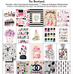 Printable Planner Stickers Beauty/Makeup/Chanel by thedecoland