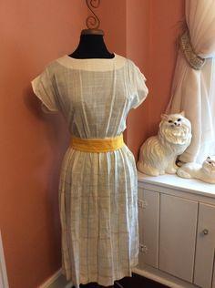 White Acid Washed Dress