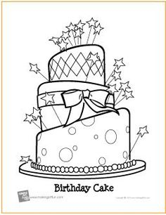Happy Birthday Cake For Kid Coloring Drawing Free wallpaper Yard
