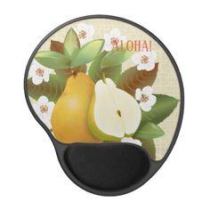 Hawaiian Tropical Pears Fruit Botanical Garden Gel Mouse Pad - flowers floral flower design unique style