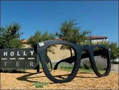 Giant Buddy Holly Glasses in Lubbock, Texas.