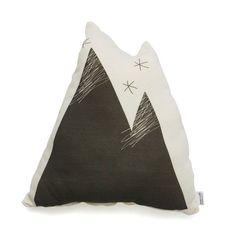 Soft Toy Cushion . Organic - Grey Mountain