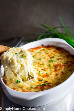 Cheesy baked orzo