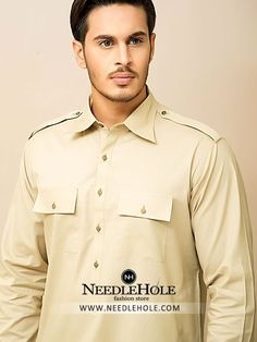 Double pocket salwar kameez suit for men in vanilla colour http://www.needlehole.com/double-pocket-salwar-kameez-suit-for-men-in-vanilla-colour.html#.Vsws0Pl96M8