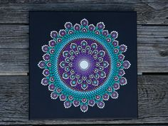 Mandala Dot Art Painting on Wrapped Canvas 12 x Signed ORIGINAL! Limited edition prints and DECALS also available in seperate listings Dot Art Painting, Mandala Painting, Stone Painting, Mandala Canvas, Mandala Art, Mandala Pattern, Mandala Design, Mandala Rocks, Stone Art