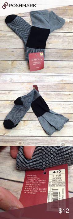 Merona boot gray and black socks Merona boot socks (4-10) Merona Accessories Hosiery & Socks