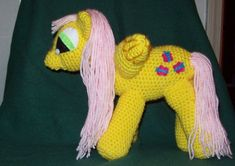 Fluttershy Winged Crochet Pony  Inspired by My Little Pony #handmade by @amydscrochet, $30