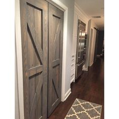 Introducing the Rustic Luxe British Brace Design Petite Set of Doors. Replace the standard white pantry and closet doors in your home with a cute set of these. Perfect to use as pantry hinged doors, bifold doors or to use as sliding barn doors too. Each cut is hand chiseled to perfection. No hardware is included in this listing. Standard Size is any opening up to 36W X 84H X 1 ½D (total width and height opening). Pricing will increase slightly for larger sizes. The Design you chose is on the…
