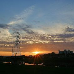 2014.05.25-The Sunset of Yanshui River,Bei District, Tainan City, Taiwan