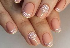 French mani nail art
