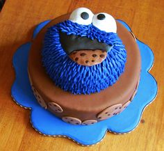 Cookie monster cake Cakes Pinterest Cookie monster cakes
