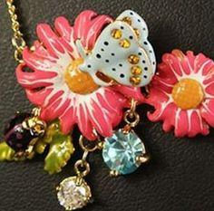 Enamelled Garden Necklace