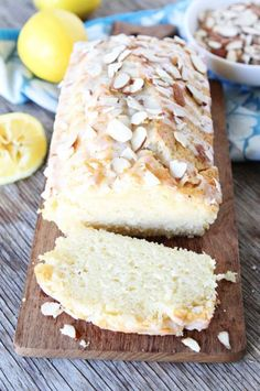 If you're looking for a sweet low-calorie bread recipe, try this lemon almond bread!