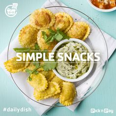 Rather than boiling your ravioli, deep fry it and serve with yummy dips for an out of the ordinary snack. Recipe Search, Easy Snacks, Ravioli, Air Fryer Recipes, The Ordinary, Baking Recipes, Cooking Tips, Delicious Desserts, Fries