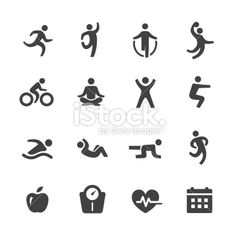 Exercise Icons - Acme Series Royalty Free Stock Vector Art Illustration