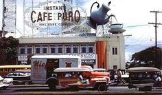 Cafe Puro 3D billboard sat on top of one wing of the Metropolitan Theater.  This was before my time but I would love to have seen this.