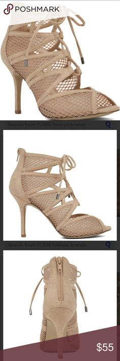 NWT Nine West Caged Sandal Heels Really nice Nude, mesh heel from Nine West. My phone is sometimes awful capturing a photo, so I've uploaded stock photos too. The stock photos are true to color. Nine West Shoes