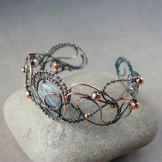 copper braselet 'Evening lights' by WhiteSquaw on deviantART