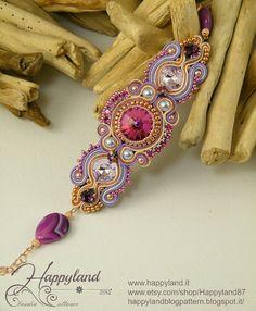 Soraya pattern  soutache bracelet par Happyland87 sur Etsy