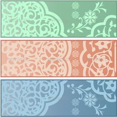 Banners with Islamic Ornaments  #GraphicRiver         Vector of different banners with Islamic ornaments on white background. Package contains: EPS (10 version), JPG (5000×5000 pixels, RGB).     Created: 12July13 GraphicsFilesIncluded: VectorEPS Layered: No MinimumAdobeCSVersion: CS Tags: abstract #antique #arabesque #arabic #banner #border #decor #decoration #elegance #element #filigree #floral #flourish #flower #frame #geometric #graphic #illustration #islamic #mosque #ornament #pattern…